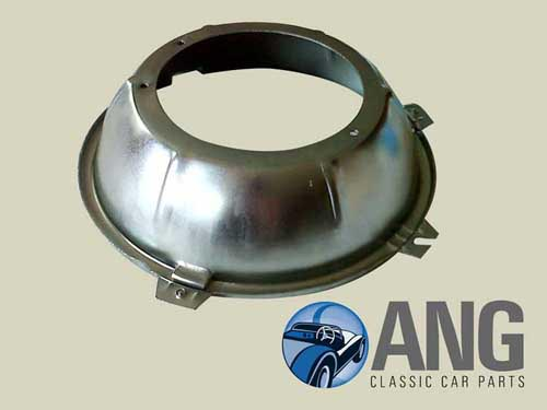 "7"" INNER HEADLAMP BOWL (ZINC PLATED) ; MkII, S-TYPE, DAIMLER V8"