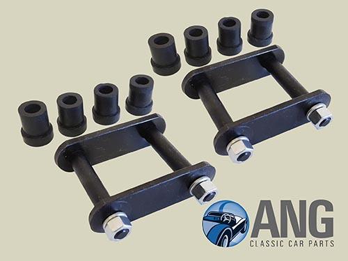 Rear Spring Shackle Pins Amp Bush Kit X 2 Mgb Mgb Gt Mgb