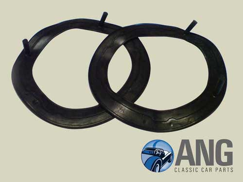 HEADLAMP TO BODY RUBBER SEALS x 2 ; E-TYPE SERIES 2 & 3