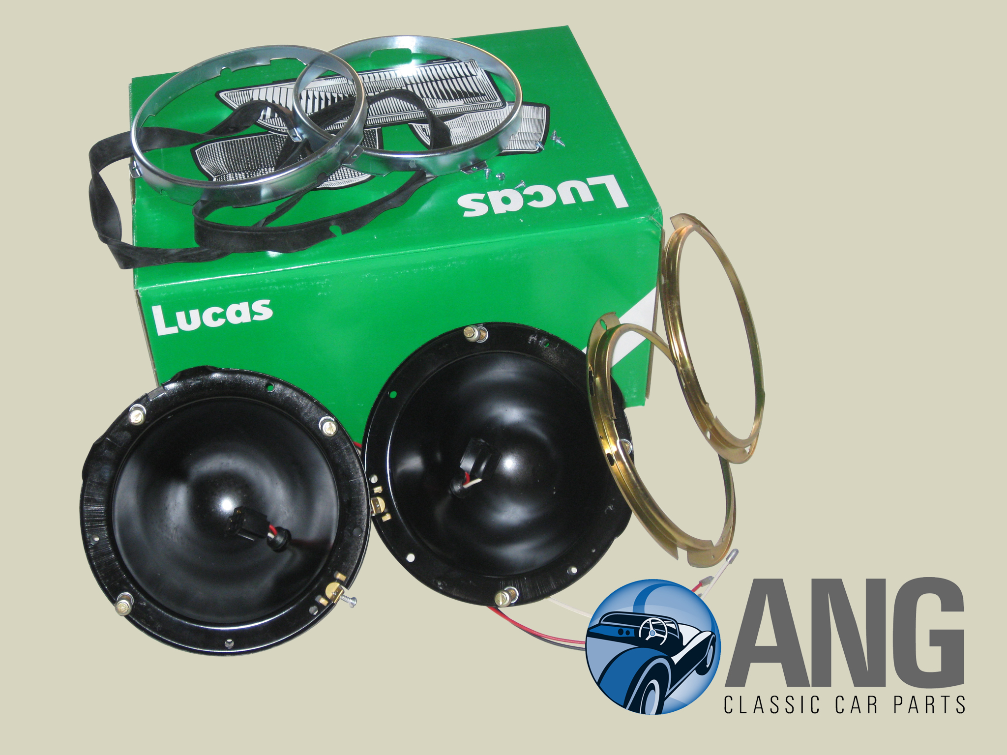 LUCAS HEADLAMP BOWL KIT SBC3 ; MGB, MGB-GT, MGB-GT V8
