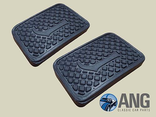 BRAKE & CLUTCH PEDAL RUBBER PAD x 2 ; XJ6 SERIES 1, 2 & 3 (MANUAL)