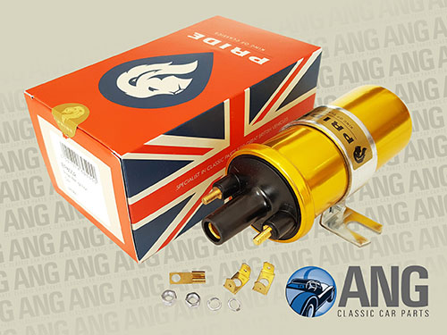 GOLD SPORTS IGNITION COIL (12v) ; E-TYPE SERIES I & II