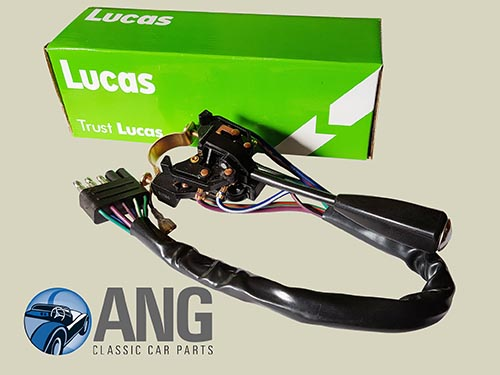 LUCAS INDICATOR STALK,HEADLIGHT & FLASHER SWITCH ; MGB, MGB-GT '70-'76