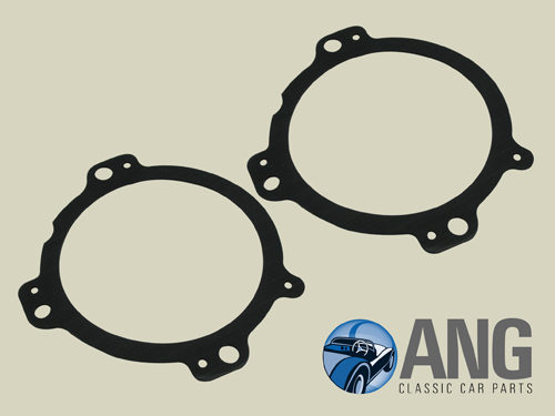 "HEADLAMP TO BODY RUBBER SEALS x 2 (5 3/4"") ; JAGUAR XJ6, XJ12"