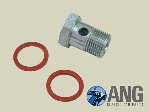 SU FUEL PUMP BANJO BOLT & WASHERS ; MGB, MGB-GT '64-'76