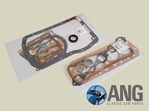 HEAD GASKET & BOTTOM END GASKET SET ; MGB ROADSTER '62-'64 (3 MAIN BEARING)