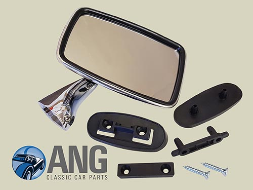 STAINLESS STEEL DOOR MIRROR (RH) ; MGB, MGB-GT, MGB-GT V8