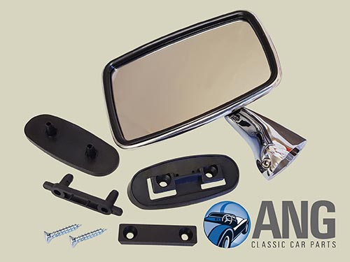 STAINLESS STEEL DOOR MIRROR (LH) ; MGB, MGB-GT,. MGB-GT V8
