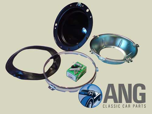 HEADLAMP BOWL & TRIM KIT ; MGB, MGB-GT, MGB-GT V8