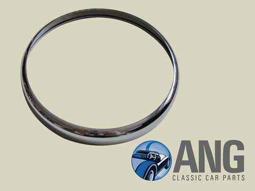 CHROME OUTER HEADLAMP RIM ; MGB, MGB-GT, MGB-GT V8