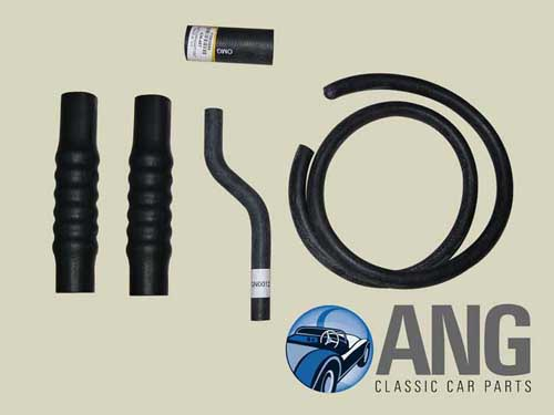 RUBBER WATER HOSE KIT ; MGB, MGB-GT '62-'67