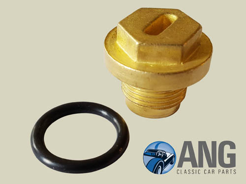 THERMOSTAT HOUSING BRASS FILLER PLUG ; MGB, MGB-GT, MGB-GT V8