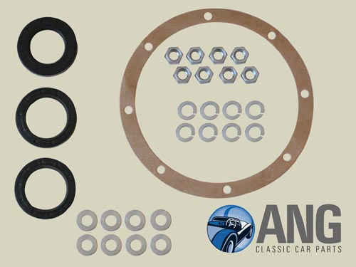 DIFFERENTIAL OIL SEALS & GASKET KIT ; MG MIDGET,SPRITE