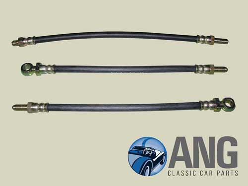 BRAKE HOSE SET (DISC BRAKES) SPRITE/MIDGET