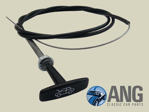 AHA5653 AUSTIN HEALEY SPRITE BONNET RELEASE CABLE /& T-HANDLE CHA460 MG MIDGET