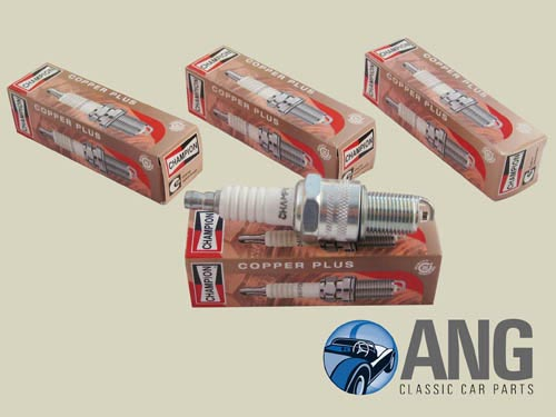 CHAMPION N9YC COPPER CORE SPARK PLUGS x 4 ; MGB, MGB-GT '65-'80