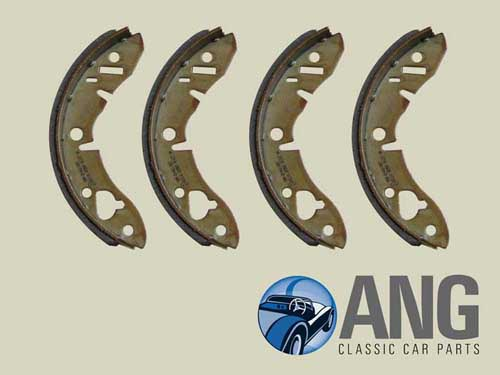 REAR BRAKE SHOE SET (4) ; MIDGET/SPRITE '63-'79