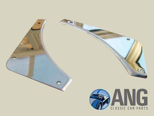 REAR BUMPER STAINLESS STEEL INFILL PANELS ; MGB, MGB-GT '62-'74