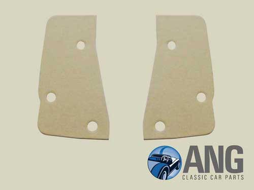 DOOR CATCH, STRIKER PLATE SHIMS x 2; MGB-GT '68>