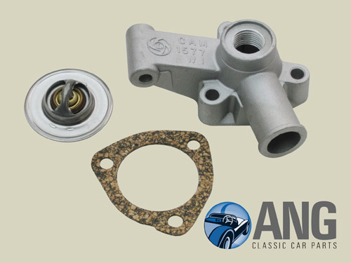 THERMOSTAT HOUSING, THERMOSTAT & GASKET ; MGB, MGB-GT '76-'80