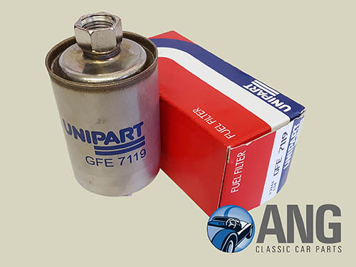 UNIPART FUEL FILTER ; XJS 4.0, 5.3 & 6.0 V12 (VIN 179737 ONWARDS) '91-'96