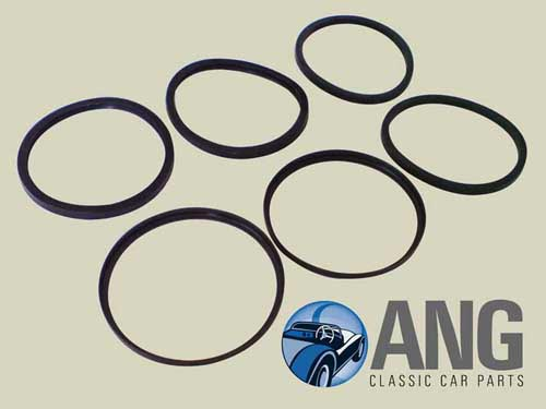 FRONT BRAKE CALIPER SEALS KIT ; MGB, MGB-GT, MGB-GT V8